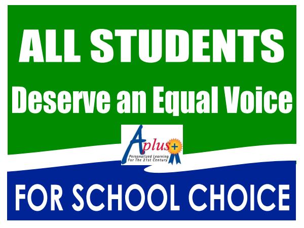 All students Deserve an equal voice for school choice
