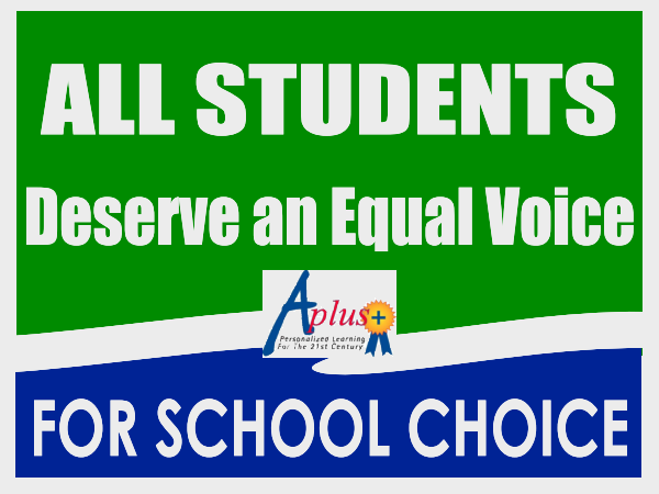 All students deserve an equal voice for school choice!