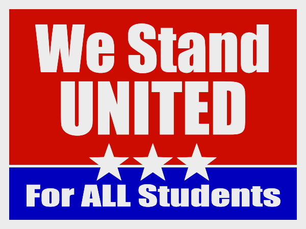 We stand united for all students!